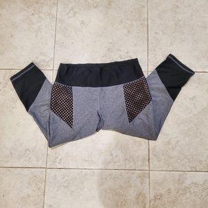 2/$20 mesh capri leggings grey black XL extra larg